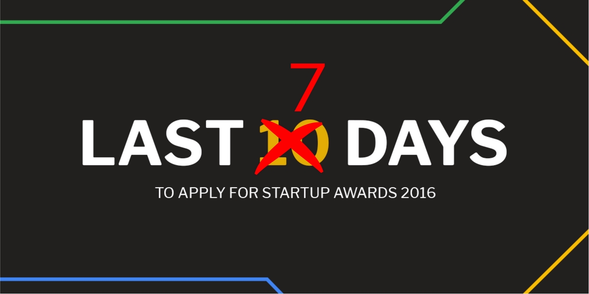 6 Reasons to Apply for STARTUP AWARDS. You Have One Week