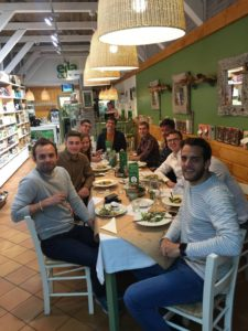 Olivier Elewaut Internship - At lunch with Kevin Petrovic