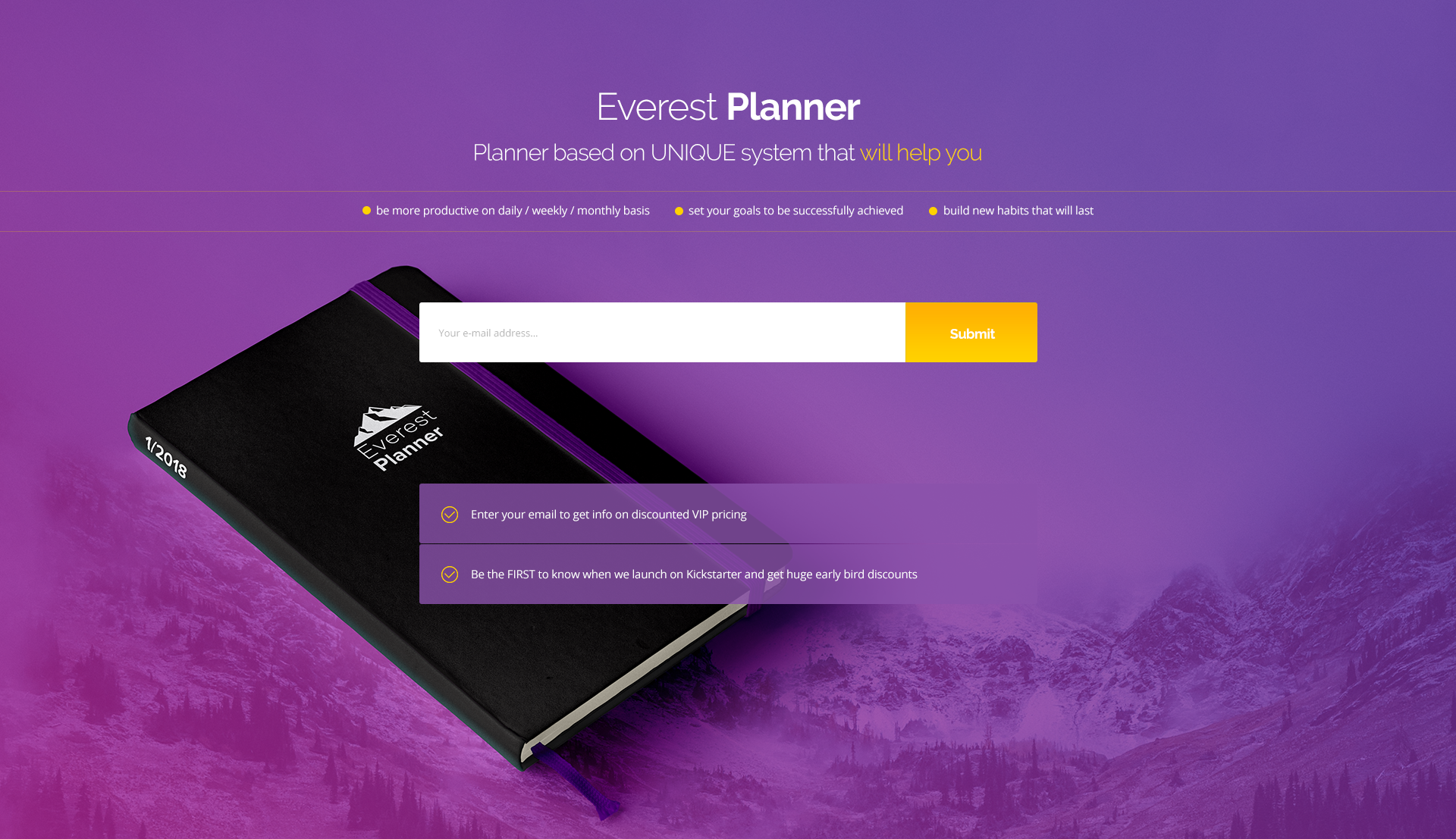 Evereste Planner Campaign Website