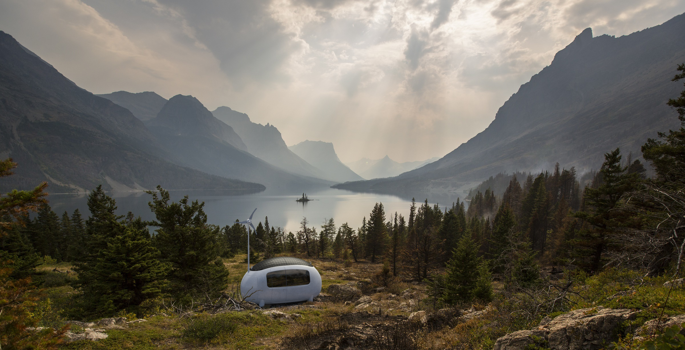 ECOCAPSULE in mountains. (Credit. ECOCAPSULE)