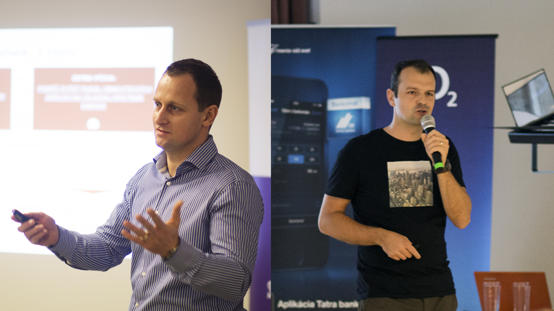UPLIFT organizers - Braňo Šmidt (left) from Impact Hub and Peter Kolesár (right) from Neulogy