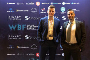 Co-founder Martin and CEO Giacomo at World Blockchain Forum Dubai