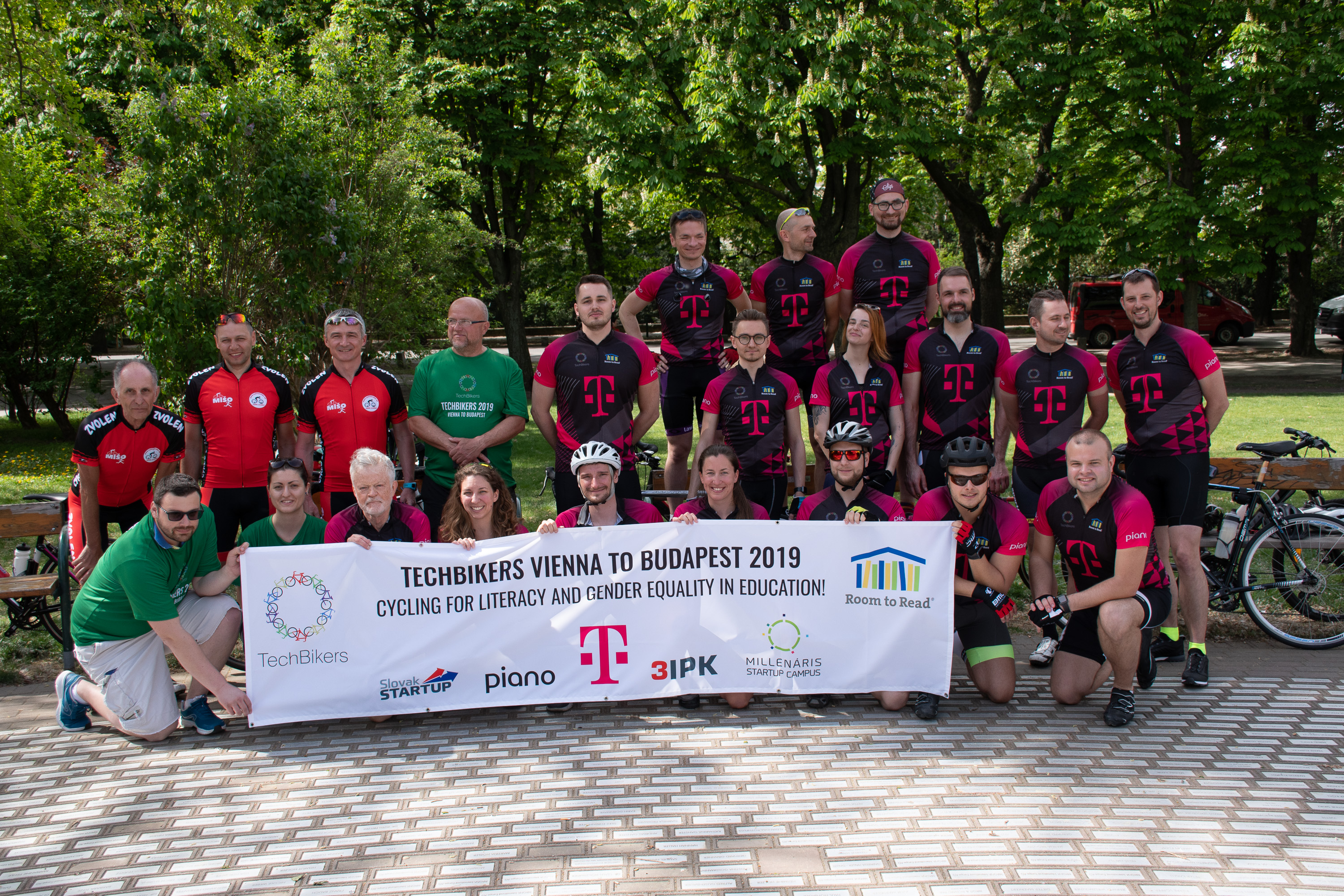 Techbikers CEE 2019: Departure from Vienna