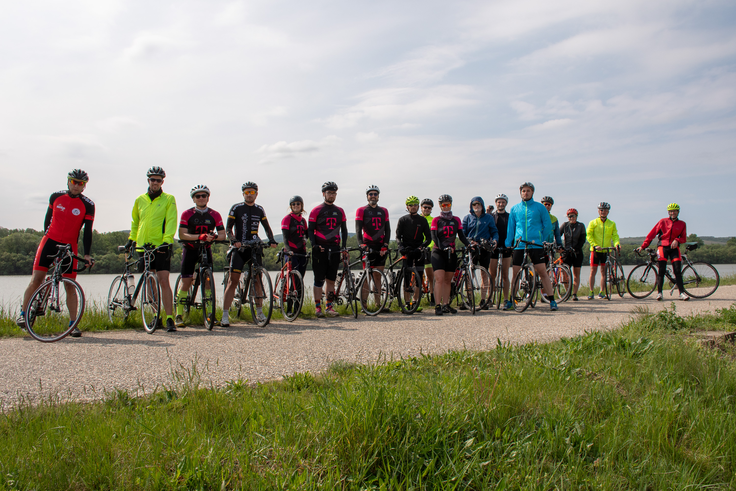 Techbikers CEE 2019: Lined-up for last day push.