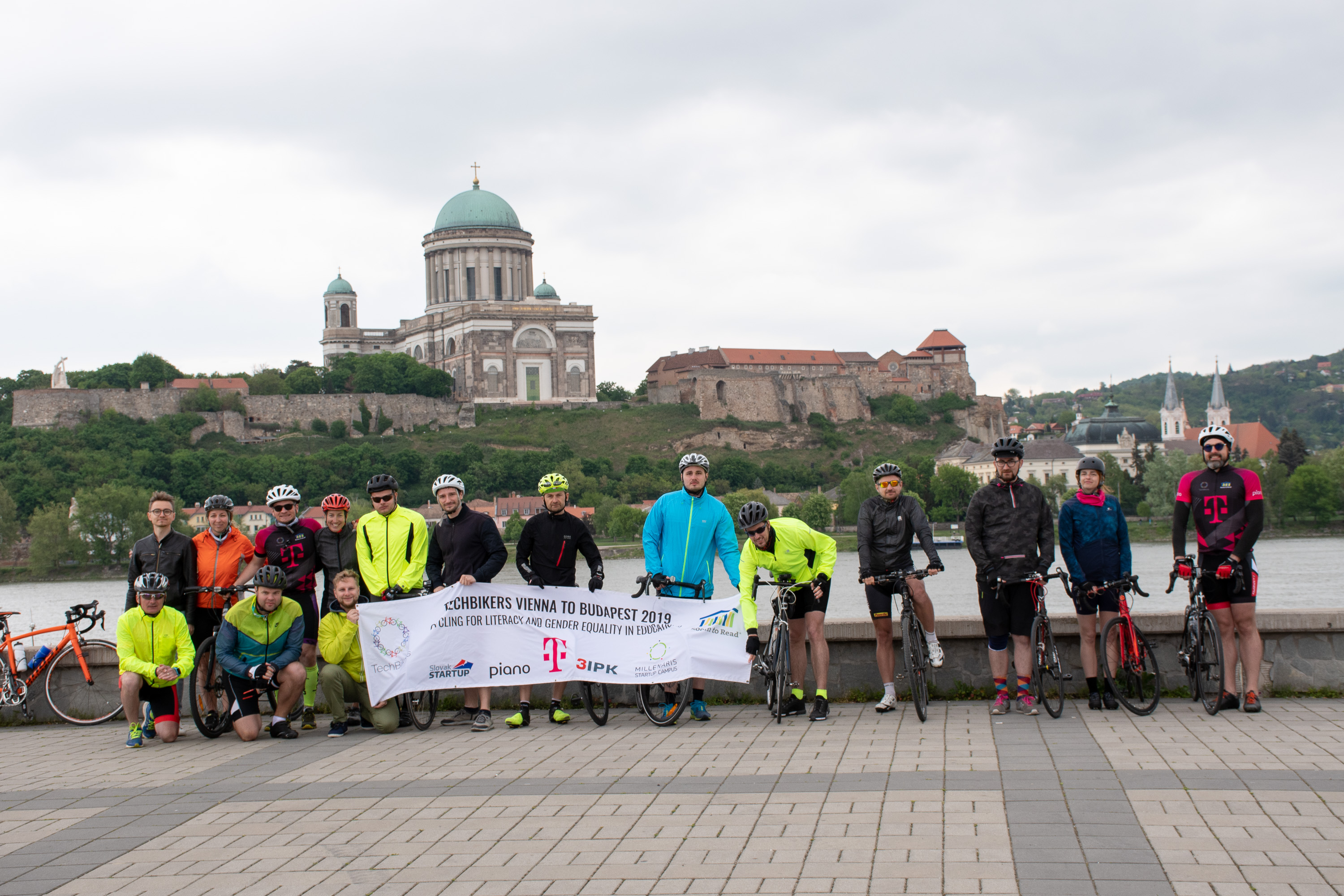 Techbikers CEE 2019: Sturovo: Crossing to Esztergom in Hungary