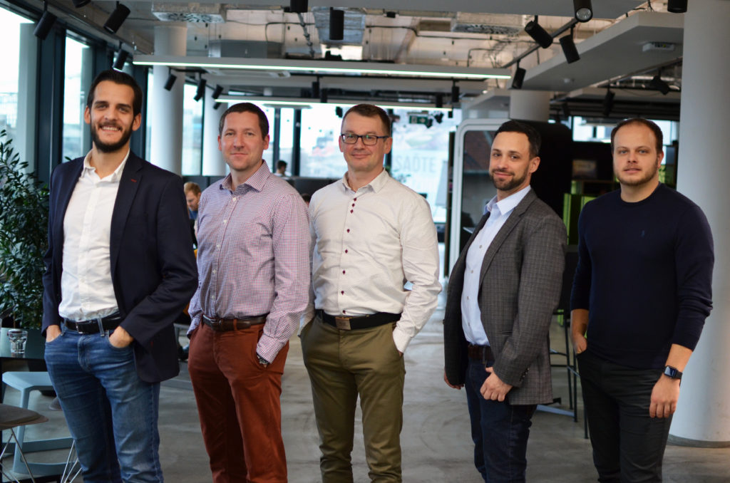 Team of Zero Gravity Partners, providing senior and balanced multinational experience, from the left: Dusan Duffek, Michal Jablonka, Roman Cmelik, Roy Ramon, and Marek Zamecnik.